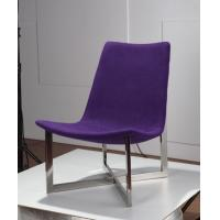 Purple Upholstered Back Dining Chairs Average Thickness With Smooth Surface Manufactures