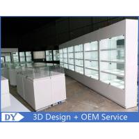Fashion Store Jewelry Display Cases With Tempered Glass Shinning White Manufactures