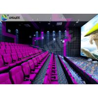 Vibration Sound 4D Cinema Equipment With Splendid Violet Shake Cinema Chairs Manufactures
