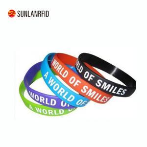 Custom Silicon Wristband /rfid silicone wristbands Manufactures