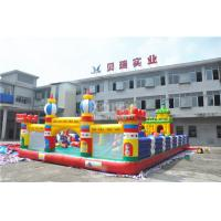 China Sport Theme Inflatable Bouncy Castle , 0.55 mm PVC Childrens Indoor Play Equipment on sale