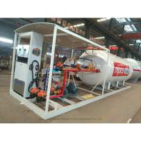 Skid Mounted LPG Gas Tank For Mobile LPG Filling Stations With  Digital Scales Manufactures