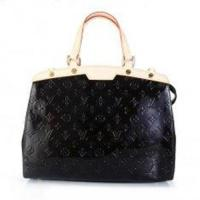 Black Oxidizing Cowhide Leather Trimming LV Monogram Vernis Brea MM Tote for Lady M91453 Manufactures