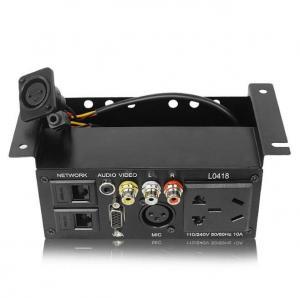 Black Under Table Power Strip Hoisting Multimedia Socket Conference Microphone Socket Manufactures