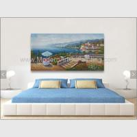 Acrylic Classic Mediterranean Scenes Oil Painting Colorful Oceanside Manufactures