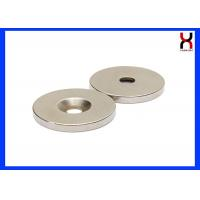 NdFeB countersunk  rare earth magnet neodymium magnet with one hole or two holes Manufactures
