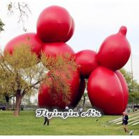 China Giant Cute Inflatable Red Dog for Square Display and Event Decoration on sale