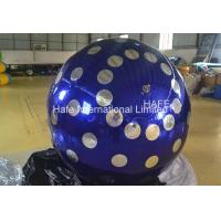 4 M Inflatable Lighting Decoration , 13ft Flying Helium Inflatable Mirror Ball Manufactures