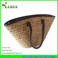 LUDA Large Seagrass Straw Handbags With PU Binding Manufactures