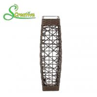 LED Tall Rattan Style Solar Lights Floor Lamp For Garden Patio Landscape Decorative Manufactures
