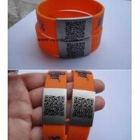 Unique QR Code on Stainless Steel Metal Custom size QR code ID Plate QR Code Bracelet Manufactures