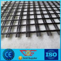 50kn/m-100kn/m fiberglass geogrid with asphalt coated Manufactures