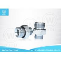 Quality British Metric Pipe Thread Fittings Bite Type , Hydraulic Tube Fittings With ED for sale