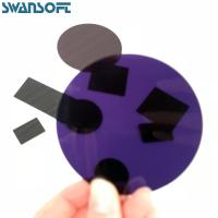 China 380NM Ultraviolet Cut-Off Type Black Optical filter Glass ZJB380 on sale