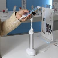 COMER Security mobile phone metal display stands with gripper Manufactures