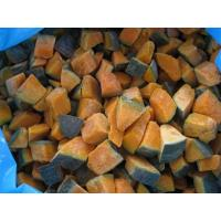 Buy cheap Frozen Steamed Sweet Pumpkin Dices unpeeled, size 2.5 * 2.5 mm from wholesalers