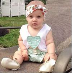 Angou INS popular baby summer sets tops+pants 2pcs sets baby cute suits children