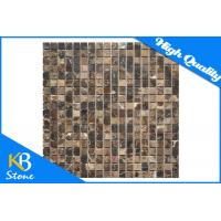 3/5 x 3/5 Inch Dark Emperador Marble Sqaure Polished Mosaic Tile for Home / Hotel Decor Manufactures