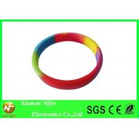 Personalized Sport Silicone Wristbands , Rubber Silicon Wristbands Mixed Color Bangles Manufactures