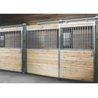 Indoor Portable Steel Tube Metal Horse Stable Fence Panel With Sliding