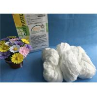 China Raw White TFO 100% Polyester Staple Fiber Eco - Friendly Hank Yarn ISO9001 2008 wholesale