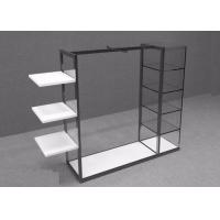 Island Style Clothing Display Rack With Metal Power Coated And Wooden Shelf Manufactures