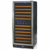 106 Bottles Compressor Wine Cooler (Fridges), Two Temp. Zones, Stainless Steel Door Trim Manufactures