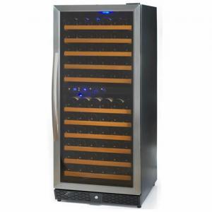 106 Bottles Compressor Wine Cooler (Fridges), Two Temp. Zones, Stainless Steel Door Trim Manufactures