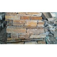 Rusted quartzite cement or meshed panel veneer for  wall stone claddings Manufactures
