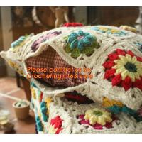 China 100% Cotton HandMade Crochet Cushion Cover Pillow Cover 25* 45cm Hand Crochet knitting Pas on sale