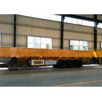 3 Axle 40 Tons 60 Tons Heavy Duty Semi Trailers Carbon Steel With Fence Cargo Manufactures
