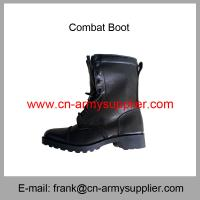 Wholesale Cheap China Army Full Leather Direct Moulded Sole Military Combat Boot Manufactures