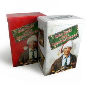 rectangular Christmas gift tin box Manufactures