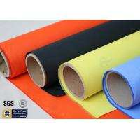 Acrylic Coated Fibreglass Fabric Orange 7628 260℃ 500℉ Chemical Resistant Manufactures