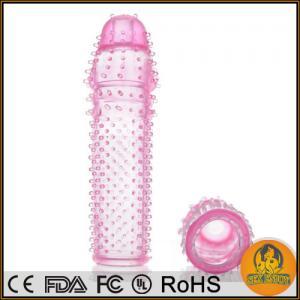Pink 5 Inch Penis Sleeve ,Sleeve Penis increase Reusable Delay Condoms,Penis Enlargers Manufactures