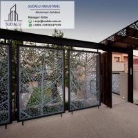 China SUDALU 10 Years Warranty Outdoor Perforated Metal Laser Cut Aluminum Fence Panel from Foshan on sale