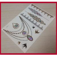 China Customized temporary tattoos-gold-foil-tattoo, temporary tattoo sticker on sale