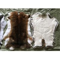 Sheared Rabbit Fur Coat Usage , Fluffy Hairs White Rabbit Fur Pelts For Garment Manufactures