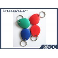 China Red Printing EM4001 125Khz RFID Key Tag For Access Control System for sale