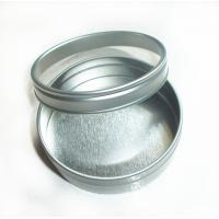 Candy Round Tin Box Silver color with clear window , round tin containers Manufactures