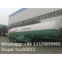 58000 litres capacity truck trailer for lpg gas , lpg trailer, hot sale 24.57tons bulk bullet lpg gas tank  trailer Manufactures