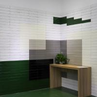 Bathroom glazed decoration ceramic wall tile in green color family Manufactures