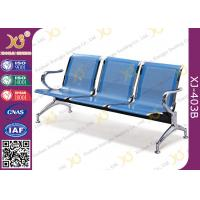 China Hospital Iron Structure Full Welding 3 Seater Waiting Chair With Cushion on sale