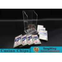 Plastic Casino Game Accessories For Wide Cards , Playing Card Dealer Shoe  Manufactures