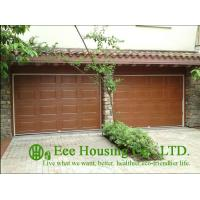 Galvanized steel Sectional remote-controlled garage door For Condos, Wood color Manufactures