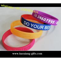 Custom embossed/debossed/printed logo Silicone Wristband & silicone bracelet Manufactures