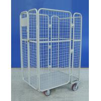China Portable Lightweight  Roll Cage Trolley 66KG 4 Sided Roll Container on sale