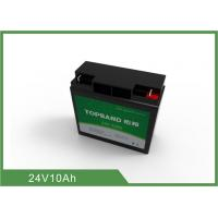 China Long lifespan Deep Cycle Lithium Battery 10Ah / 24V LifePO4 Battery Light weight on sale