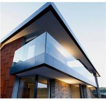 High quality U channel base tempered glass deck railing / U profile frameless glass railing