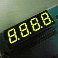 350mm Continuous Green Four Digit 7 Segment LED / Electronic Display Board Manufactures